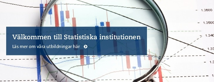 Grafer, text: Välkommen till Statistiska institutionen. Foto: Mostphotos